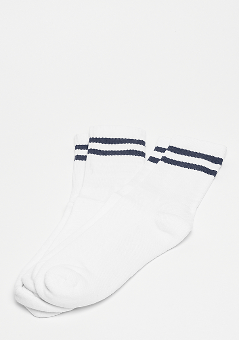 Urban Classics 2-Stripe Socks white/navy