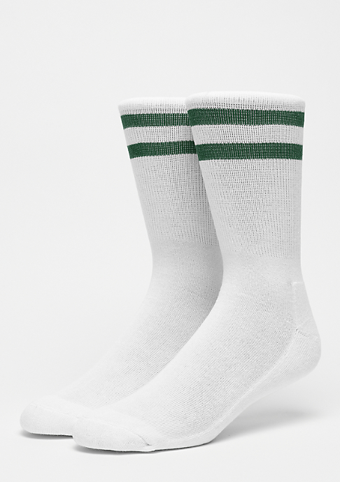 Urban Classics 2-Stripe Socks white/green