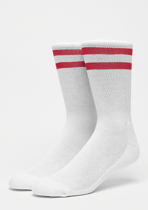 Urban Classics 2-Stripe Socks white/red