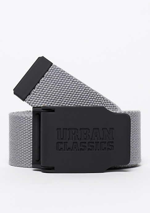 Urban Classics Woven Belt Rubbered Touch UC grey
