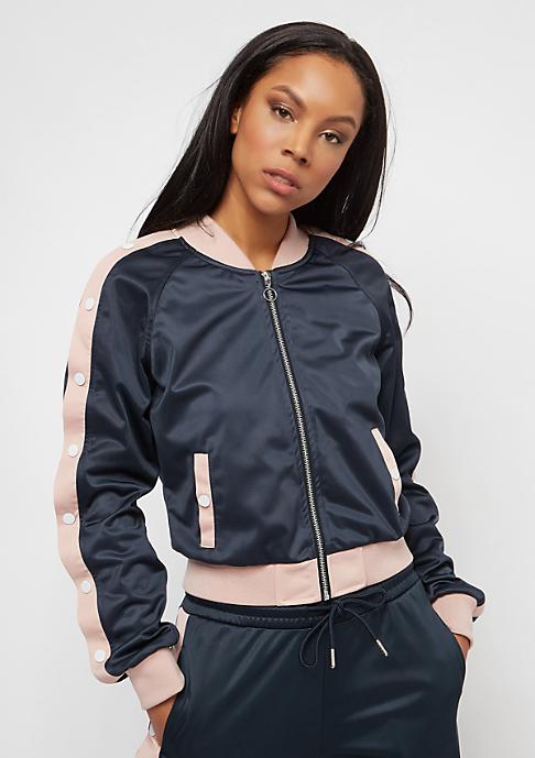 Urban Classics Button Up navy/lightrose/white
