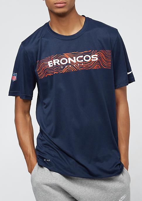 NIKE Denver Broncos LGD Onfield Seismic college navy