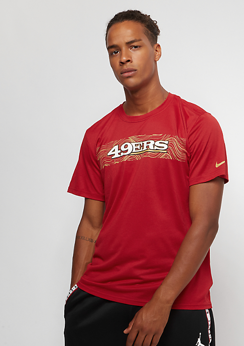 NIKE San Francisco 49ers LGD Onfield Seismic gym red