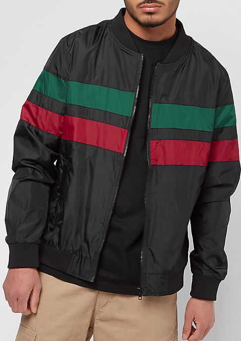 Urban Classics Striped Nylon black/green/red