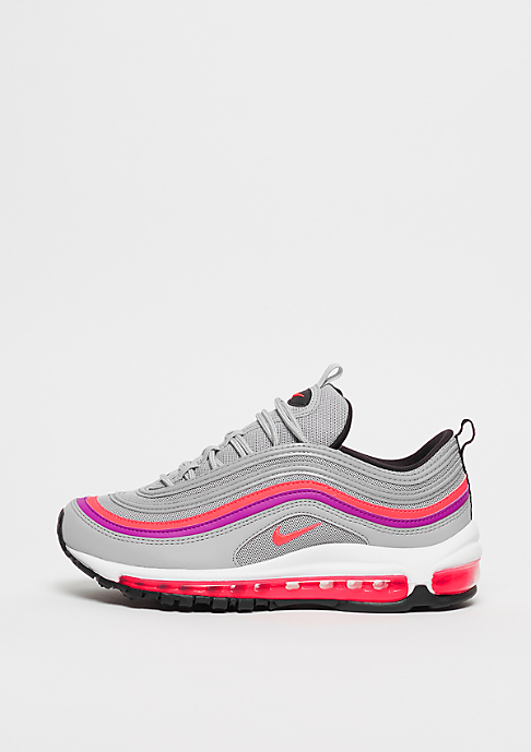 NIKE Wmns Air Max 97 wolf grey/solar red-vivid purple-black