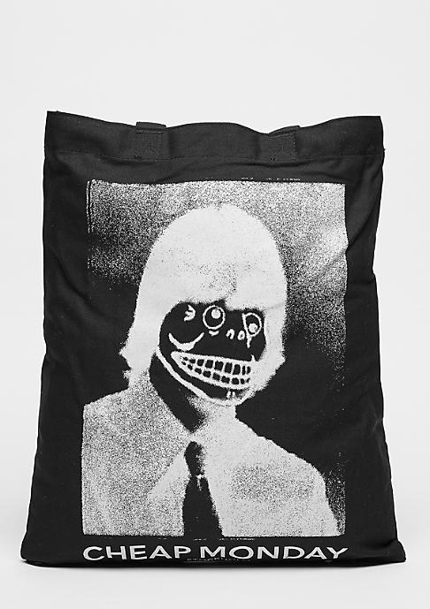 Cheap Monday Modern Tote Funny Skull black