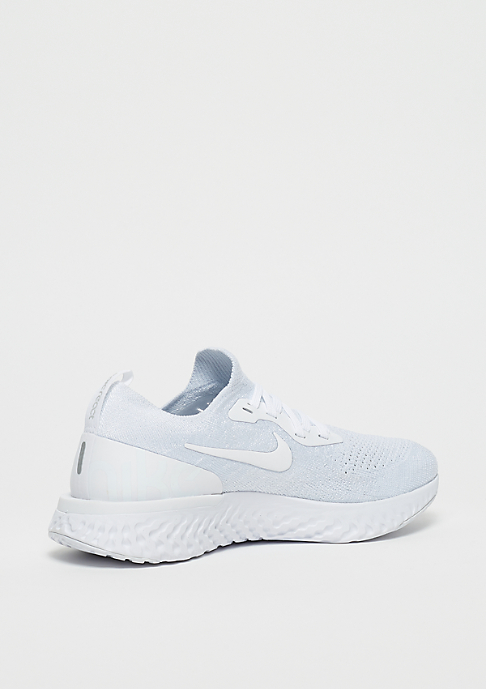 NIKE Running Wmns Epic React Flyknit true white/white-pure platinum