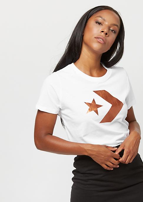 Converse Star Chevron Metallic white
