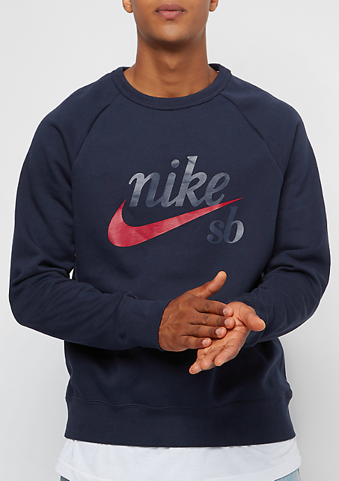 NIKE SB Icon Crew GFX Heritage obsidian/red crush