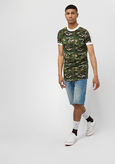 Sixth June Tee With Band green camo/white