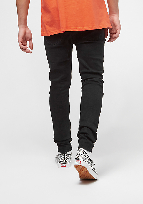Sixth June Denim With Checker Patch black