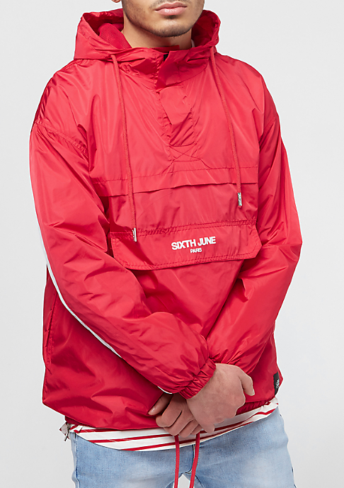 Sixth June Rain Jacket With Sleeves Band red/white