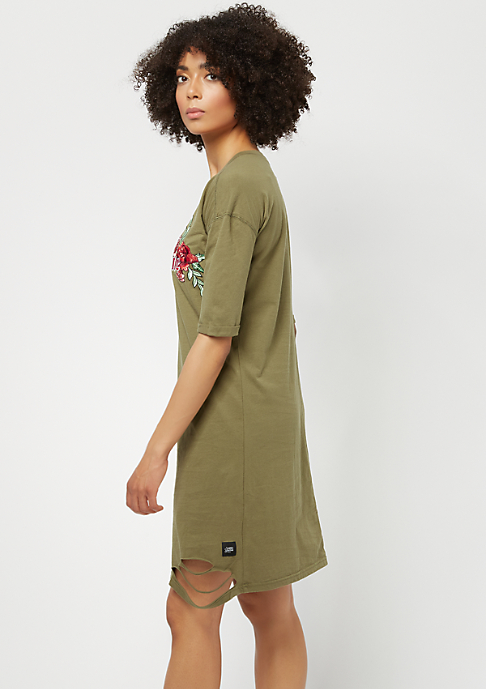 Sixth June Dress TS 6J Roses khaki