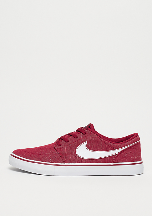 NIKE SB Solarsoft Portmore II Canvas Premium red crush/white/white