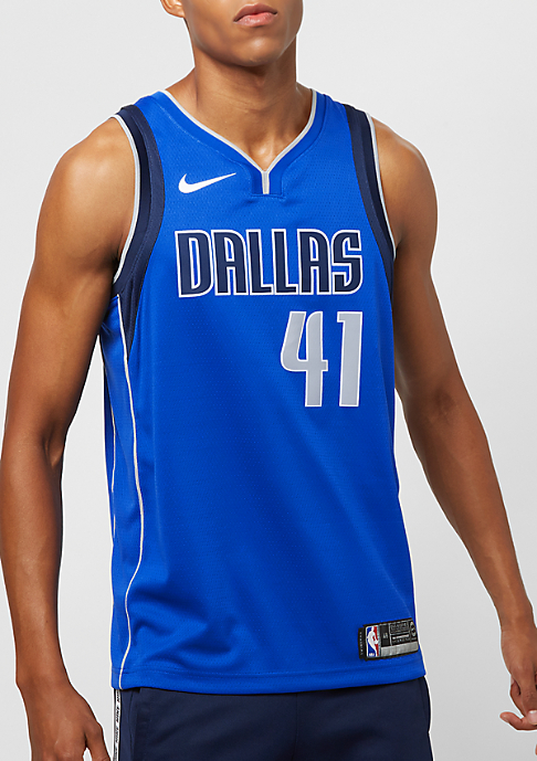 NIKE Basketball NBA Swingman Dallas Mavericks Dirk Nowitzki game royal