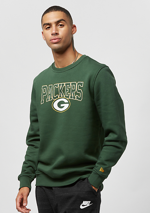 New Era Crew Neck Team APP NFL Green Bay Packers cilantro gree