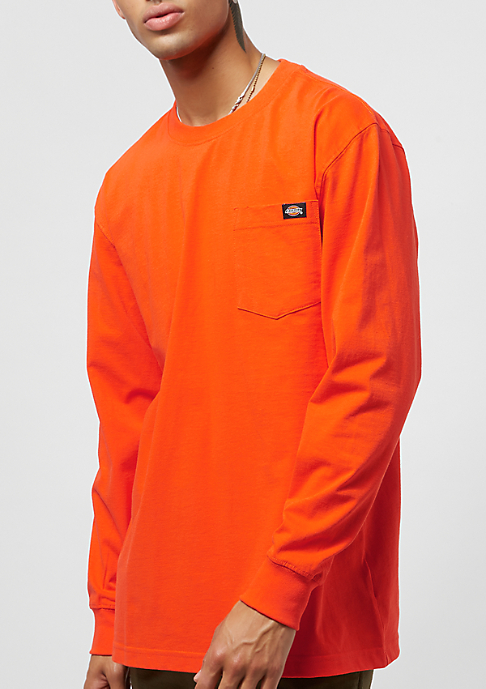 Dickies Pocket Tee L/S orange