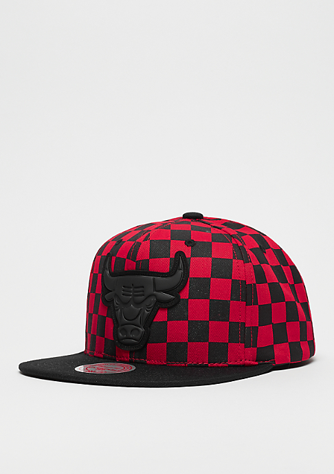 Mitchell & Ness NBA Chicago Bulls Checked B&R Crown red/black