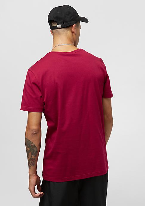 Lacoste Short sleeved Crew neck tee-shirt bordeaux