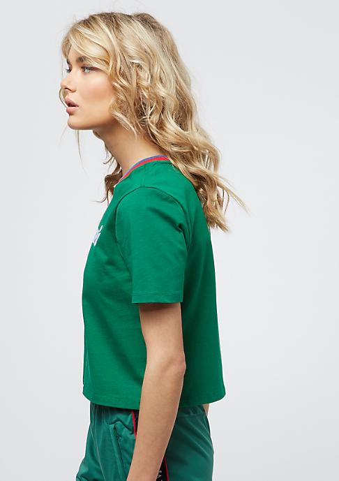 Umbro Stripe Collar Tee green/red