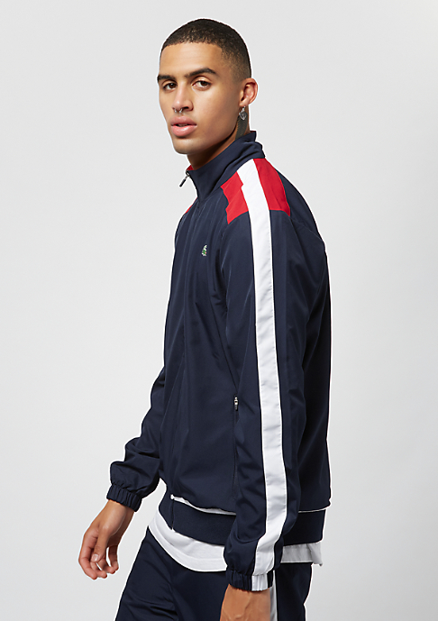 Lacoste Tracksuit navy blue/white lighthouse red