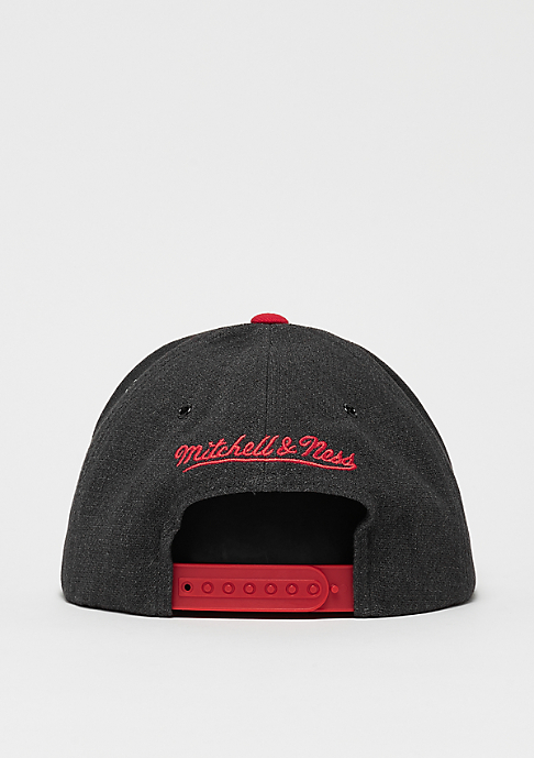 Mitchell & Ness MBA Chicago Bulls Woven Reflective Snap charcoal/red