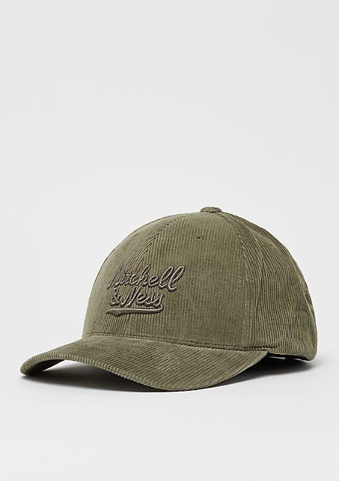 Mitchell & Ness Cord Curved Snap hiking green