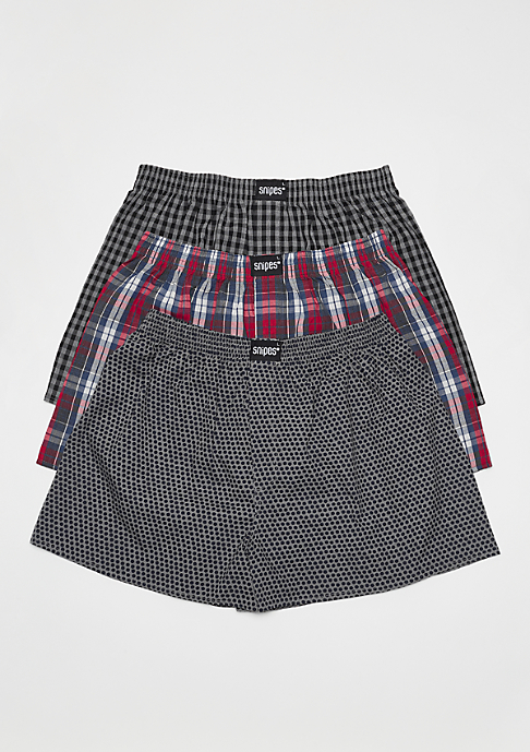 SNIPES 3er Rubber Cuffed plaid/multicolor