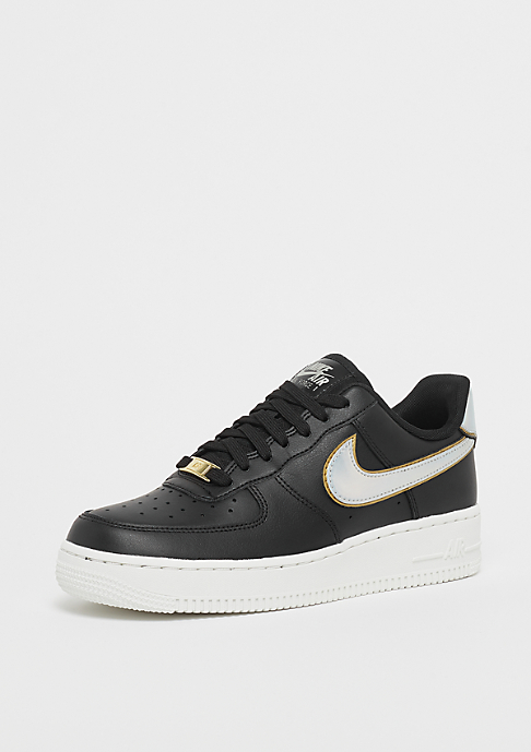 NIKE Air Force 1 07 black/mtlc platinum/summit white