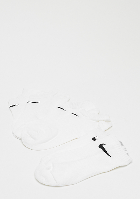 NIKE Performance Lightweight No-Show Training 3P white/black
