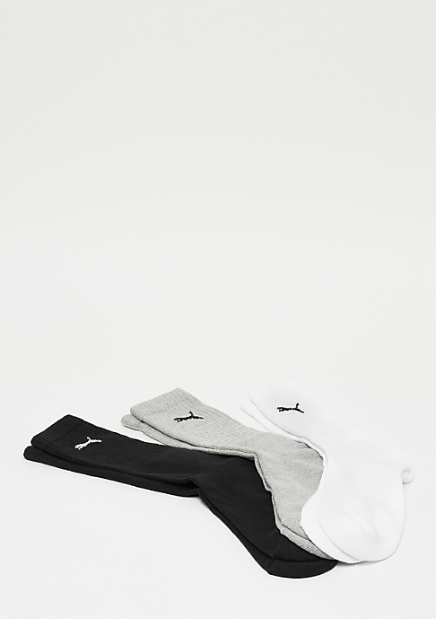 Puma Sport Crew 3P white/grey/black