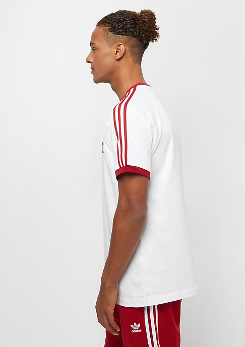 adidas 3-Stripes Tee white/power red