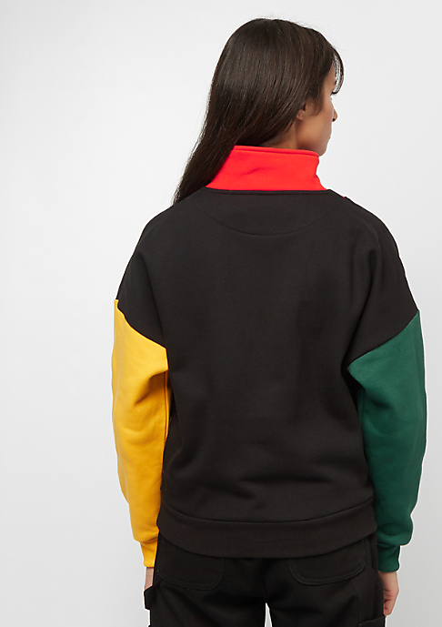 Karl Kani KK Block Halfzip Crewneck black red green yellow