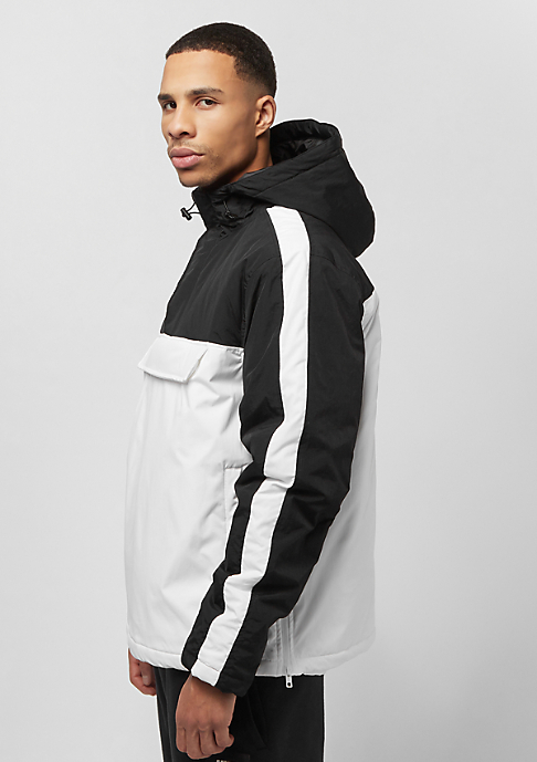 Urban Classics Padded Pull Over Hooded Jacket white/black
