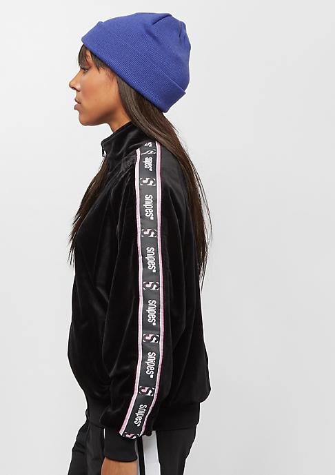 SNIPES Velvet Chest Logo Trackjacket black