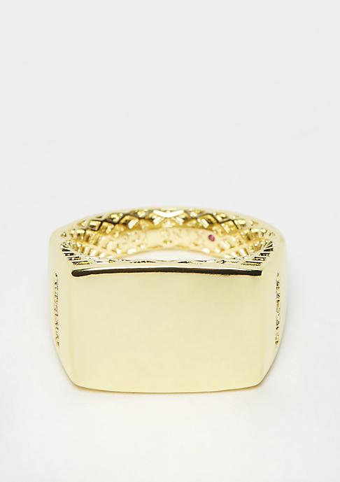 King Ice Minimalist Ring - Gold Überzug Größe 8