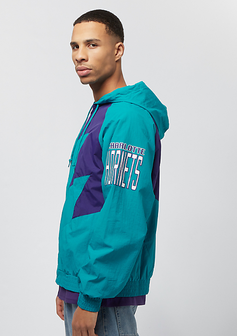 Mitchell & Ness NBA Shark Tooth Jacket Charlotte Hornets teal