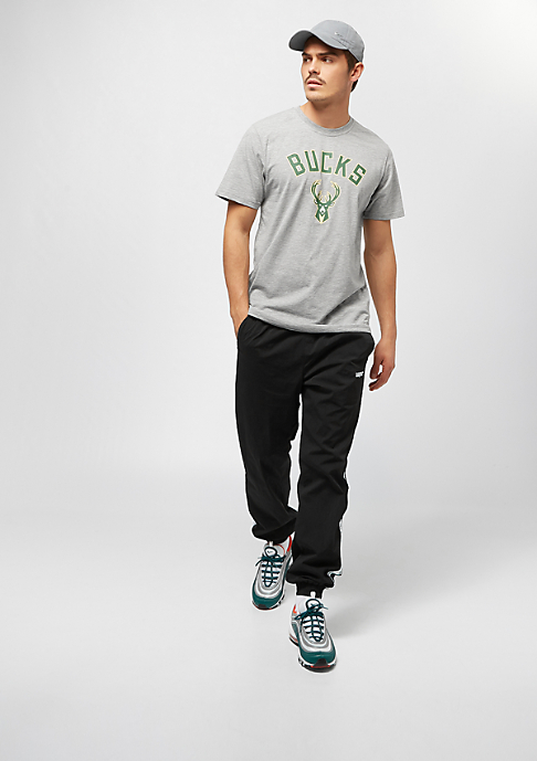 New Era NBA Team Logo Tee Milwaukee Bucks grey