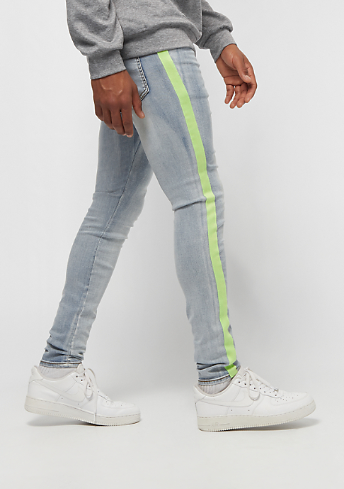 Sixth June Denim With Fluo Bands lime