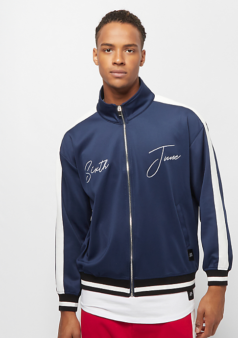 Sixth June Tracksuit Jacket with Bands navy