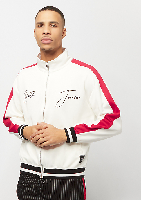Sixth June Tracksuit Jacket with Bands white