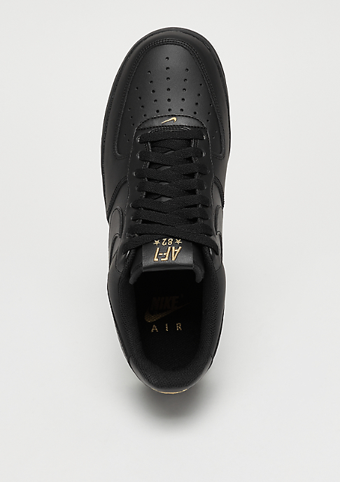 NIKE Air Force 1 07 black/black/summit white/metallic gold