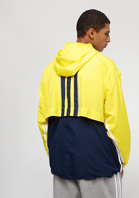 adidas Auth Anorak shock yellow/collegiate navy