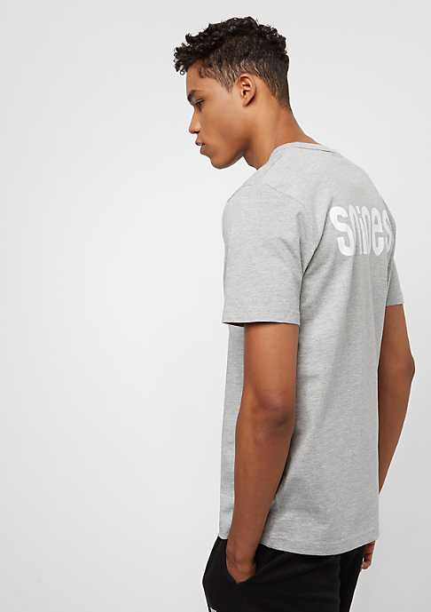 SNIPES Back Basic Logo heather grey/white