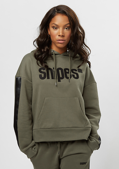 SNIPES Basic Logo Stripe olive night/black