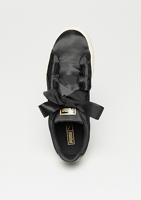 Puma Basket Heart Tween black-whisper white-gold