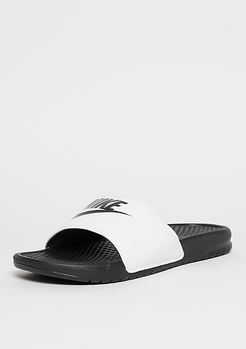 NIKE Benassi Just Do It white/black/white