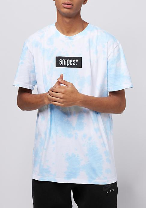 SNIPES Box Logo Batik light blue/white