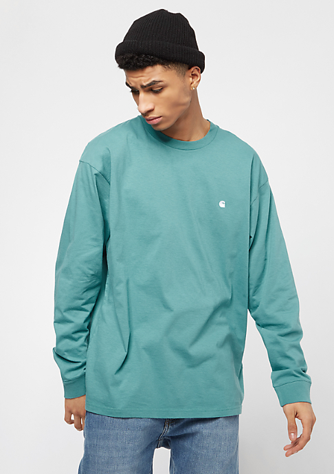 Carhartt WIP Madison soft teal/white