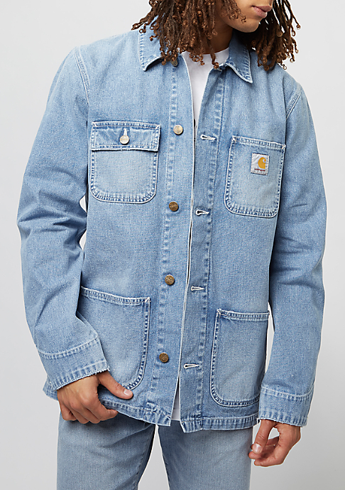 Carhartt WIP Übergangsjacke Michigan Chore Coat blue true bleached